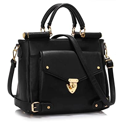 New Women Designer HandBags Ladies Faux Leather Shoulder Tote ...