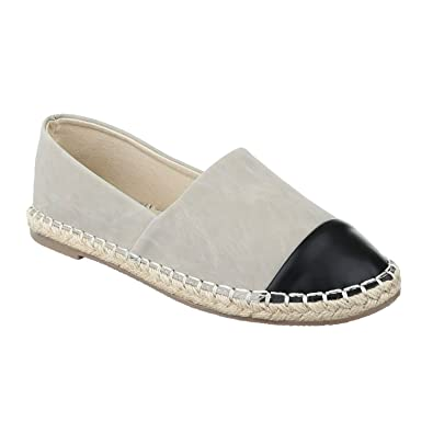 Bequeme Sommer Damen Espadrilles Slipper Flats Sandalen Freizeit Schuhe 732 (38, Beige) King Of Shoes