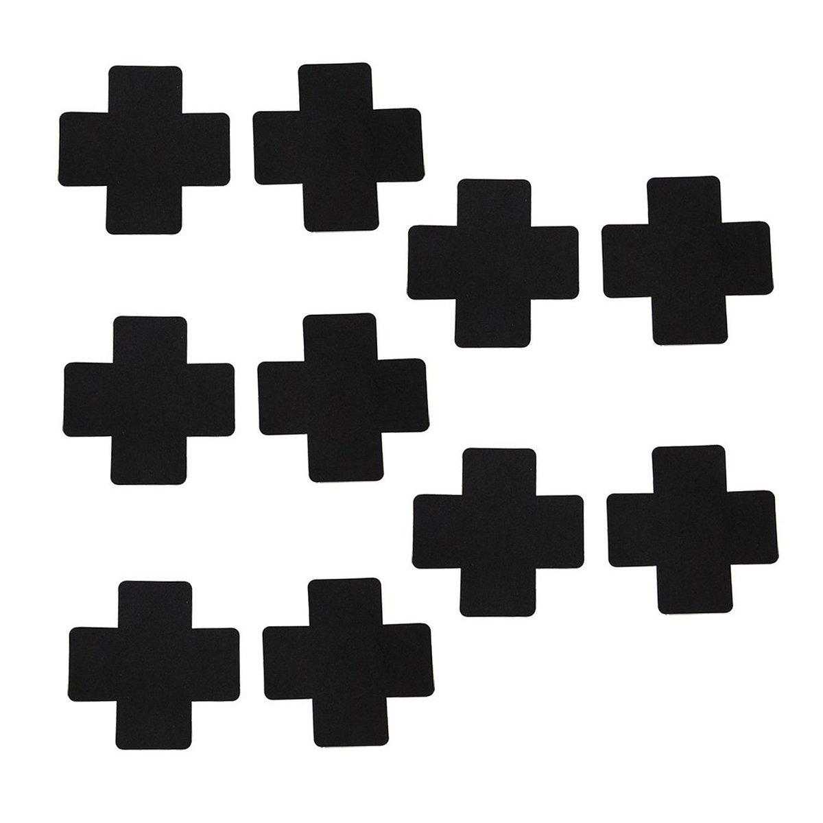 Tinksky 5 Pairs Disposable Petals Pasties Breast Nipple Cover Stickers (Black) 9C194839GORFJ5007
