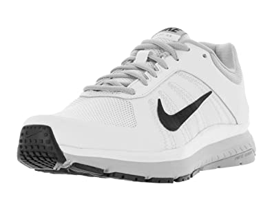 Nike Men's Dart 12 White/Black/Wolf Grey Running Shoe 8 Men US