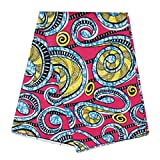 Comaba Women's Traditional African Style Comfort Back Cotton Fabric Rose Red OS
