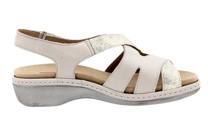 Pre orden para la venta Precio barato en Español Calzado Mujer Confort de Piel Piesanto 8813 Sandalia Velcro Plantilla Extraíble Cómodo Ancho cb63K