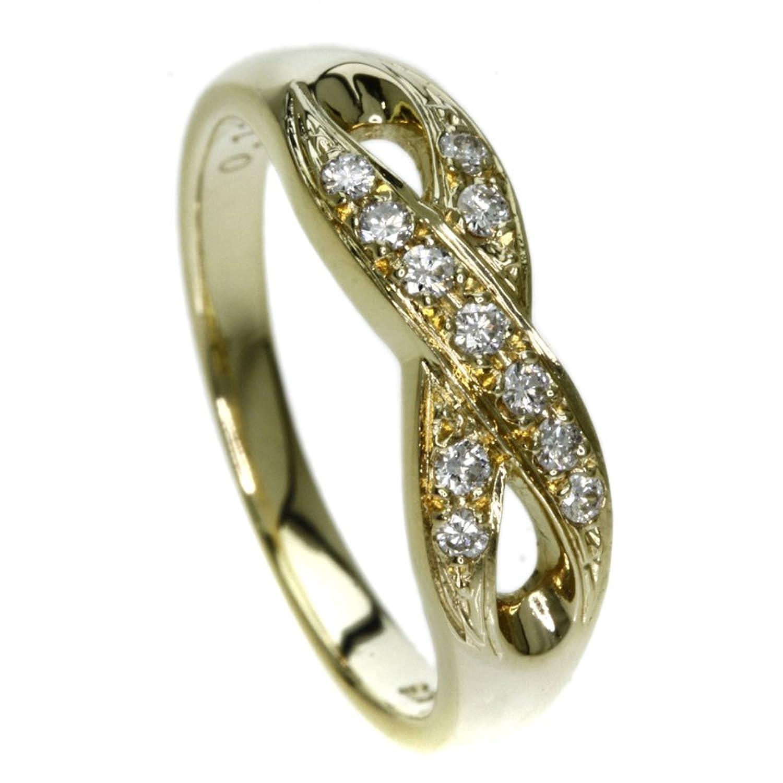 [ミキモト]3.8g ダイヤモンド リング指輪 K18イエローゴールド レディース (中古) B078MYS1JT