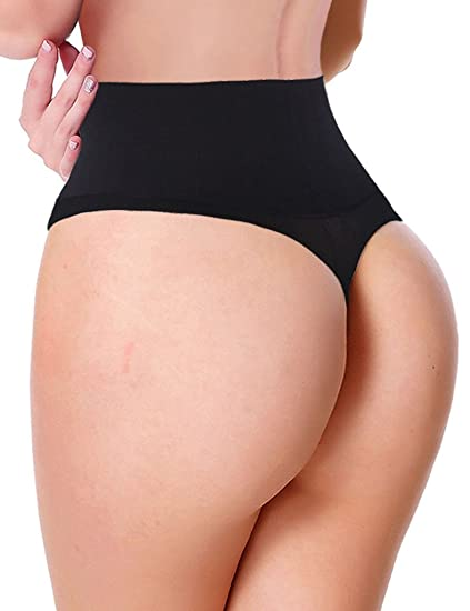 041452c335fae Image Unavailable. Image not available for. Color  Lelinta Women Waist  Cincher Girdle Tummy Slimmer Sexy Thong Panty Shapewear