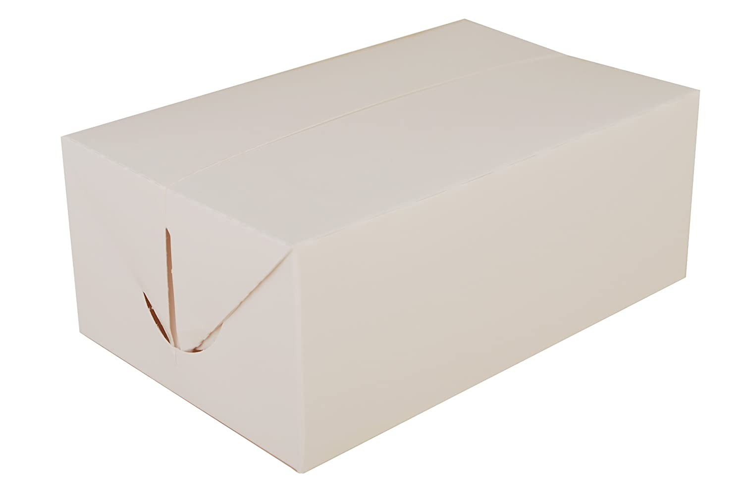 Southern Champion Tray 2718 Paperboard White Snack Carry-Out Box, Fast Top, 7