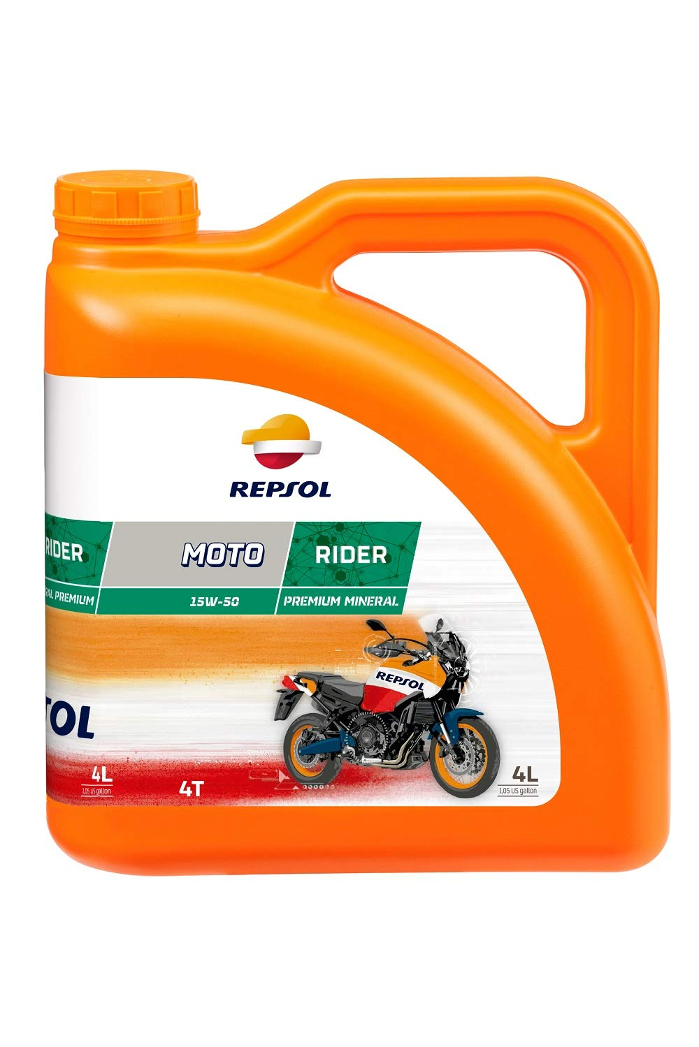 Repsol Moto Rider 4T 15W50 Motorcycle Engine Oil 4 L Repsol S.A. RP165M54 tr-539208