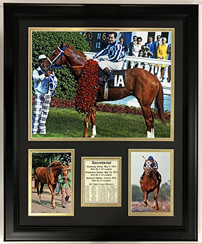 (Legends Never Die Secretariat Kentucky Derby Framed Double Matted Photos, 18