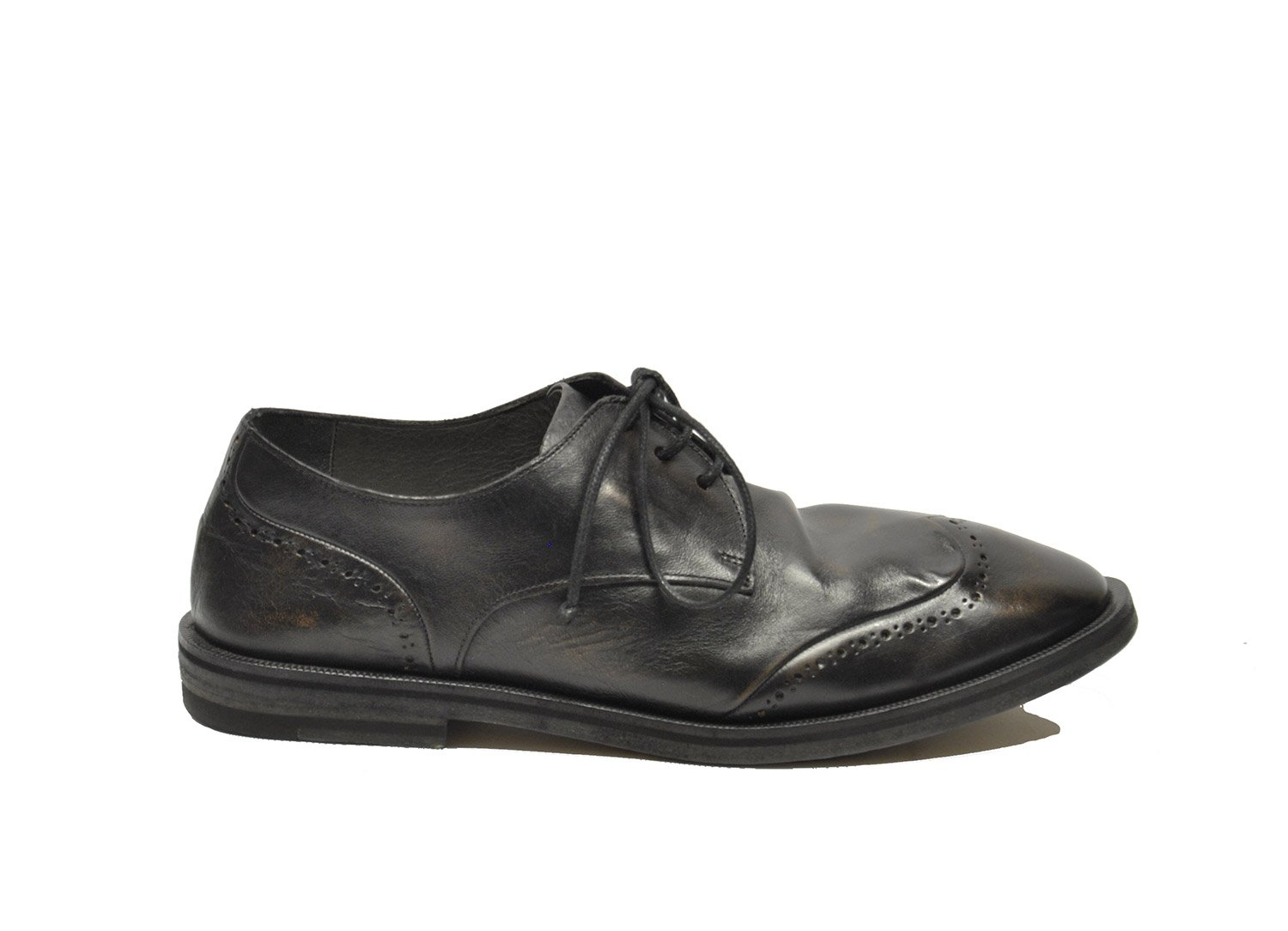 How Do I Get Marsell Mens MM2142 Black Leather Lace Up Shoes