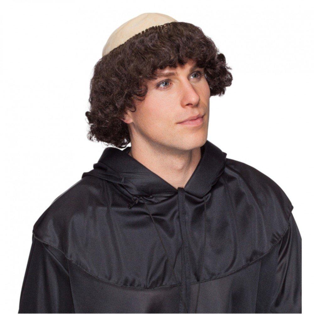 Peluca Monk con la guirnalda del pelo accesorios del traje ...