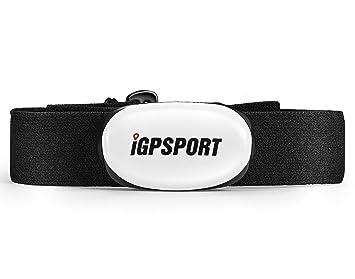 iGPSPORT Sensor de frecuencia Cardíaca HR40 para rastreador de Ejercicios, Soporte Bluetooth y Ant+ Pulsómetros Ayuda (Correa de Pecho Suave)