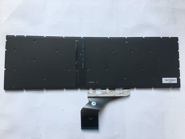 New US English Laptop Keyboard for HP 15-DA0004DS 15-DA0005DS 15-DA0006DS 15-DA0007DS 15-DA0008DS 15-DA0009DS Silver with Backlit no Frame