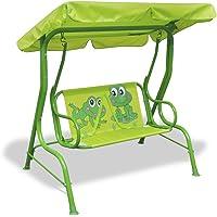 vidaXL Kinder Hollywoodschaukel Grün Kinderschaukel Gartenschaukel Gartenbank
