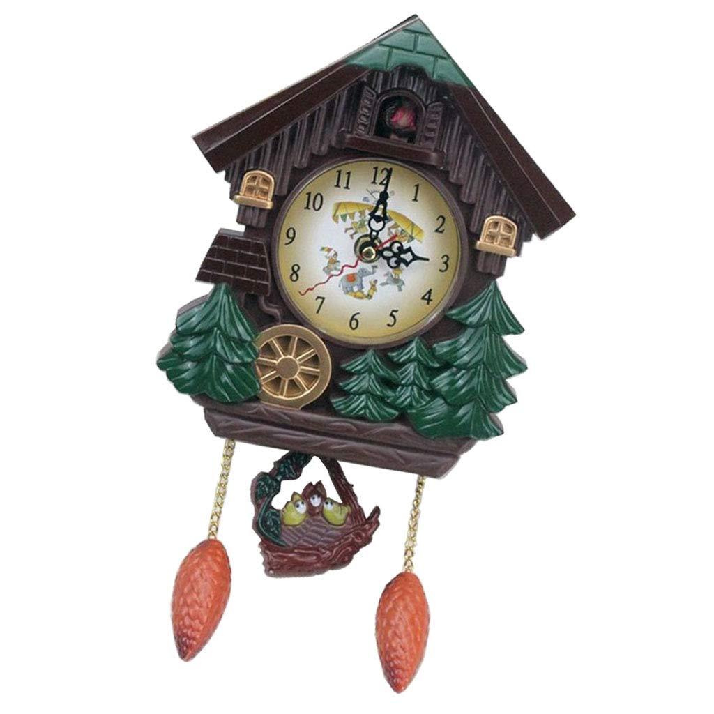 Clocks Home & Kitchen SM SunniMix Cuckoo Clock Quartz-Movement ...