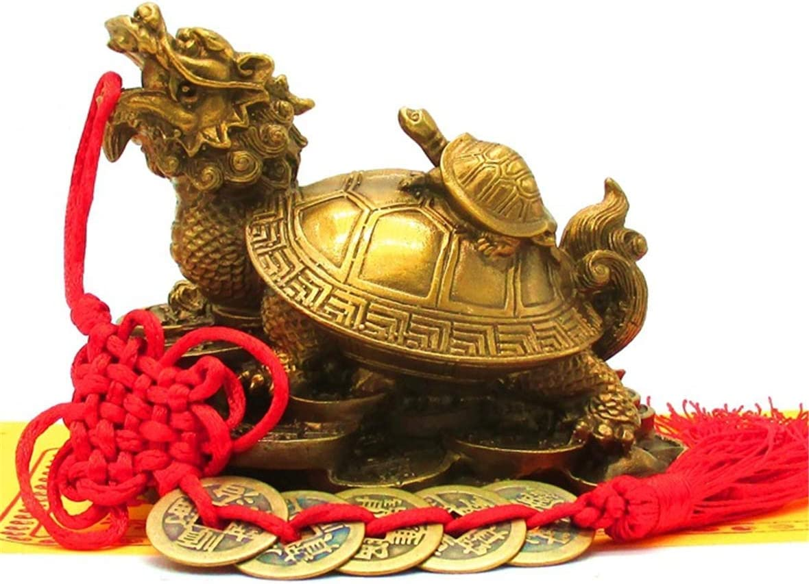 xiulin Feng Shui Copper Tortoise Bronze Mother and Child Tortoise Lucky Town House Five Emperor's Money Sign Paper Interior Decoration Home Furnishing