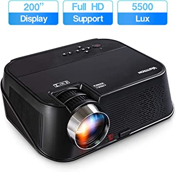 Amazon Com Vasttron Hd Video Projector Super Bright 5500 Lux Full Hd 1080p 200 Supported Home Theater Projector Compatible With Tv Sticks Hulu Ps4 Smart Phones Pcs More For Movies Tv And