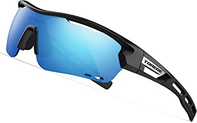 Polarized Sport Sunglasses 3 Lenses Fit for Cycling Running Fishing Climbing