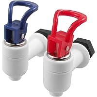 ACAMPTAR machinekraan waterdispenser kunststof 2 stuks rood blauw wit