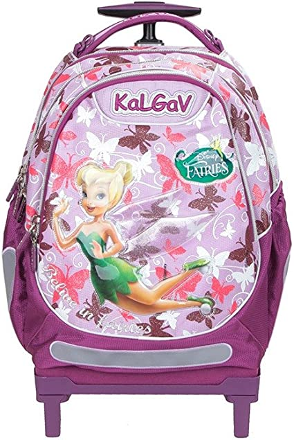 Amazon Com Disney Tinkerbell Official Trolley Rolling School Bag Rolling Hybrid Backpack Girls Bnwt Outdoor Backpack Reservoirs Sports Outdoors