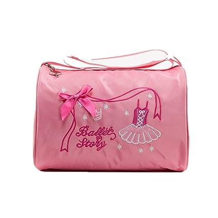 FeliciaWen Los niños niñas Ballet Dance Swim Tote Bag Bordado Ballerina Dancing Bag Niños Princesa Dance