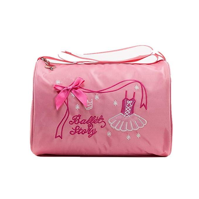 Sencillez Kids Girls Ballet Dance Swim Tote Bag Bolso Bordado Ballerina Dancing Bag Children Princesa Dance Bag para Bailarinas Bailarina Mochila de Moda ...