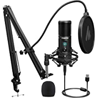USB Microphone 192KHZ/24BIT MAONO PM421 Professional Cardioid Condenser Podcast Mic with One-Touch Mute and Mic Gain Knob for Broadcasting, Recording, Gaming, YouTube