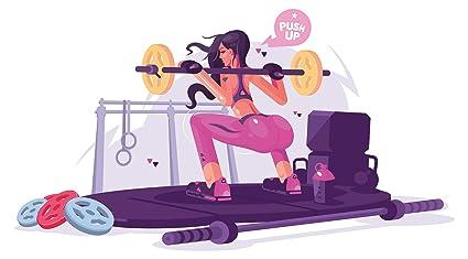 Pegatina de pared Fuerza de entrenamiento del atleta con mancuernas motivo deportivo para pegar gimnasio estudio