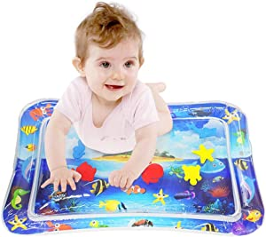 Toddler Toys, Tummy time mat, Water Play Mat Baby Toys for 3, 4, 5, 6 to 12 Months Infants, Inflatable Sensory Water Mat for Crawling, Stimulation Brain Development Toys for Baby Gifts (BPA Free)