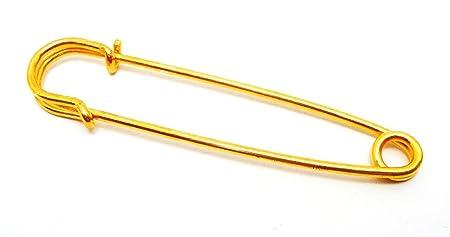 Para falda escocesa pines/imperdibles (dorado/76 mm - 10 piezas ...
