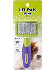 Coastal Li'l Pals Slicker Purple and Green Brush for Dogs, Extra Small
