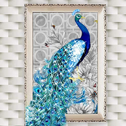 Full Drill 5D DIY Peacock Diamond Painting Embroidery Cross Stitch Kits Crafts