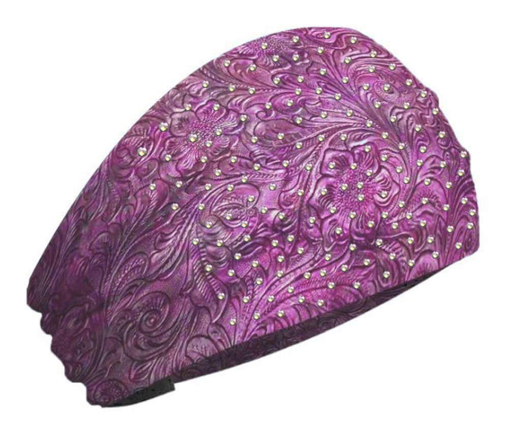 That's A Wrap Womens Bling Tooled Leather Look Knotty Band Headwrap KB3025R-PINK