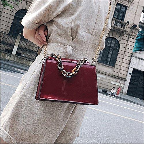 Handbag Bolsos de Verano, nuevos Bolsos Retro Mini, Bolsos Lindos Coreanos, Bolsos. A+ (Color : Caqui) Red