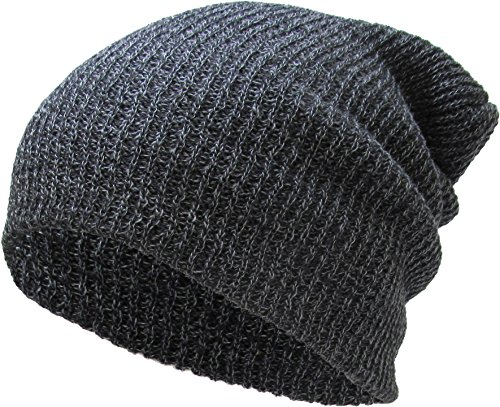 KBW-10 DGY Slouchy Beanie Baggy Style Skull Cap Winter Unisex Ski Hat,(10) Dark Gray,One Size Fits All]()