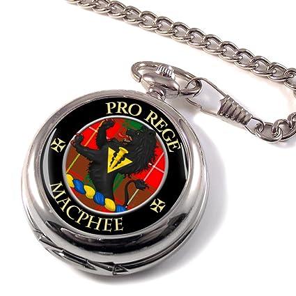 Macphee (moderno) Clan Escocés con el escudo del reloj de bolsillo