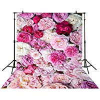 Allenjoy 5x7ft photography backdrop floral Flower wall pink White Valentines Day baby shower children background photo studio photocall