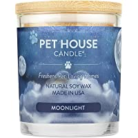 (Moonlight) - Pet House Candle in 15 Fragrances - All Natural Soy Wax Candle and Pet Odour Eliminator - Eco-Friendly…