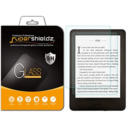 (2 Pack) Supershieldz for All New Kindle (10th Generation 2019), Kindle  E-Reader (8th Generation) and Kindle Paperwhite (7th Generation) Tempered