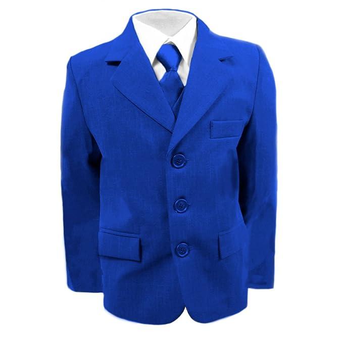 Niños traje de boda, Royal azul Suit, Graduación, Fiesta y cruceros de 6 meses - 16 años: Amazon.es: Ropa y accesorios