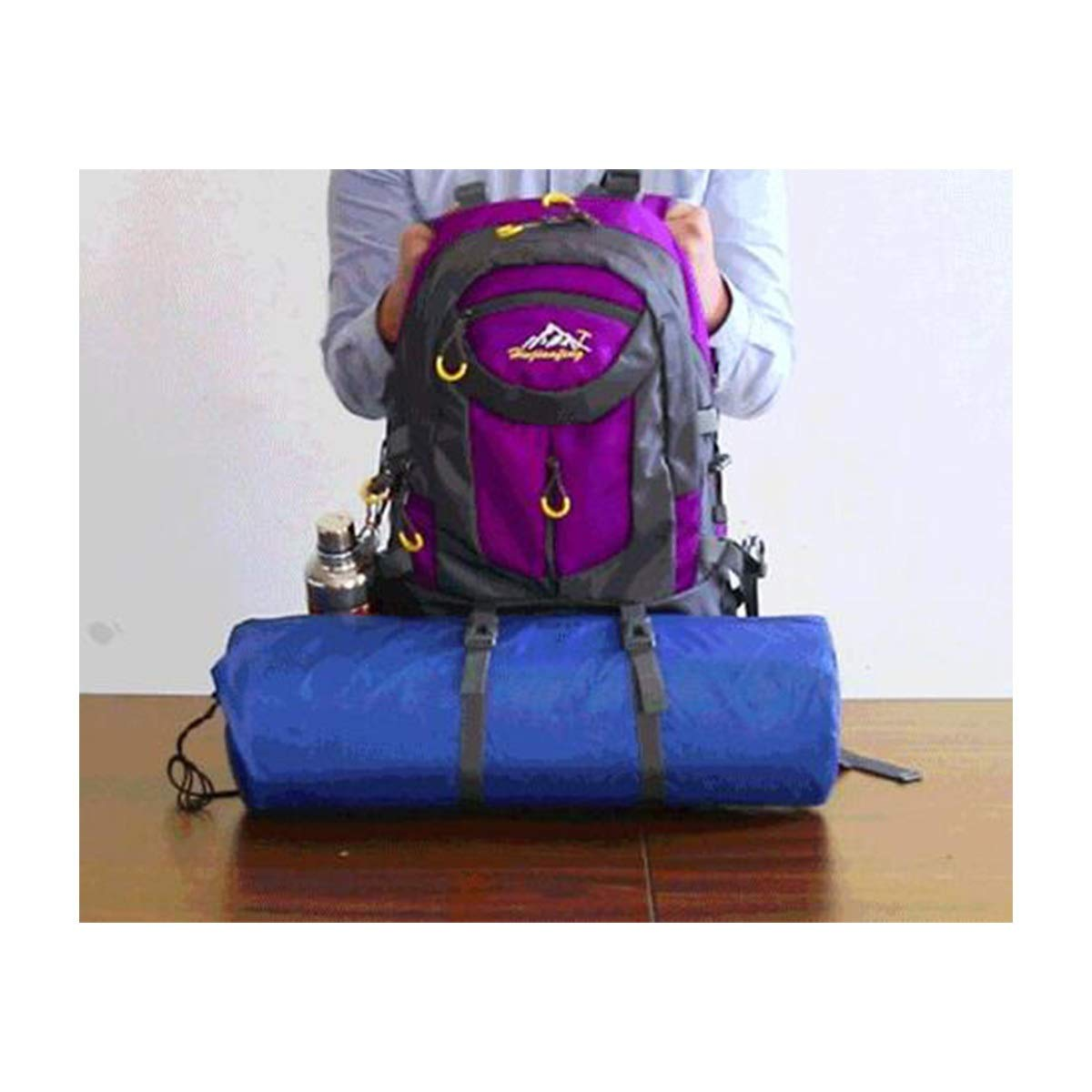 Outdoor Hiking Bag for Men and Women Waterproof Travel Backpack -60L Capacity : 60L, Color : Purple Haoyushangmao Backpack Multi-Color Optional Latest Models