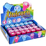 """Booboolala Unicorn Party Supplies...(24) 1.4"""" Colorful Unicorn STAMPERS - Party Favor - Activity - Craft TIME - Stocking Stuffer"""