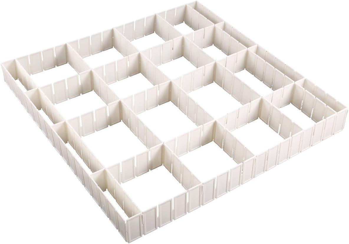 Universell Schubladeneinteiler Schubladenteiler Fachteiler Schubladen-Einteiler-Satz B/üro K/üche Schubladen Einteiler Schubladen-Organizer Schubladentrenner zuschneidbar Anladia 12-TLG