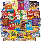Snacks Care Package Gift Assortment Sampler Mixed Bars, Cookies, Chips, Candy for Office, Military, College, Meetings, Schools, Friends & Family (40 Count)