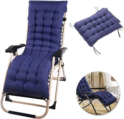 Cuscino lettino prendisole cuscino per sedia a dondolo per esterno patio per giardino portatile Cuscino per sedia a sdraio spesso Cuscino per panca poltrona relax per sedia senza sedia