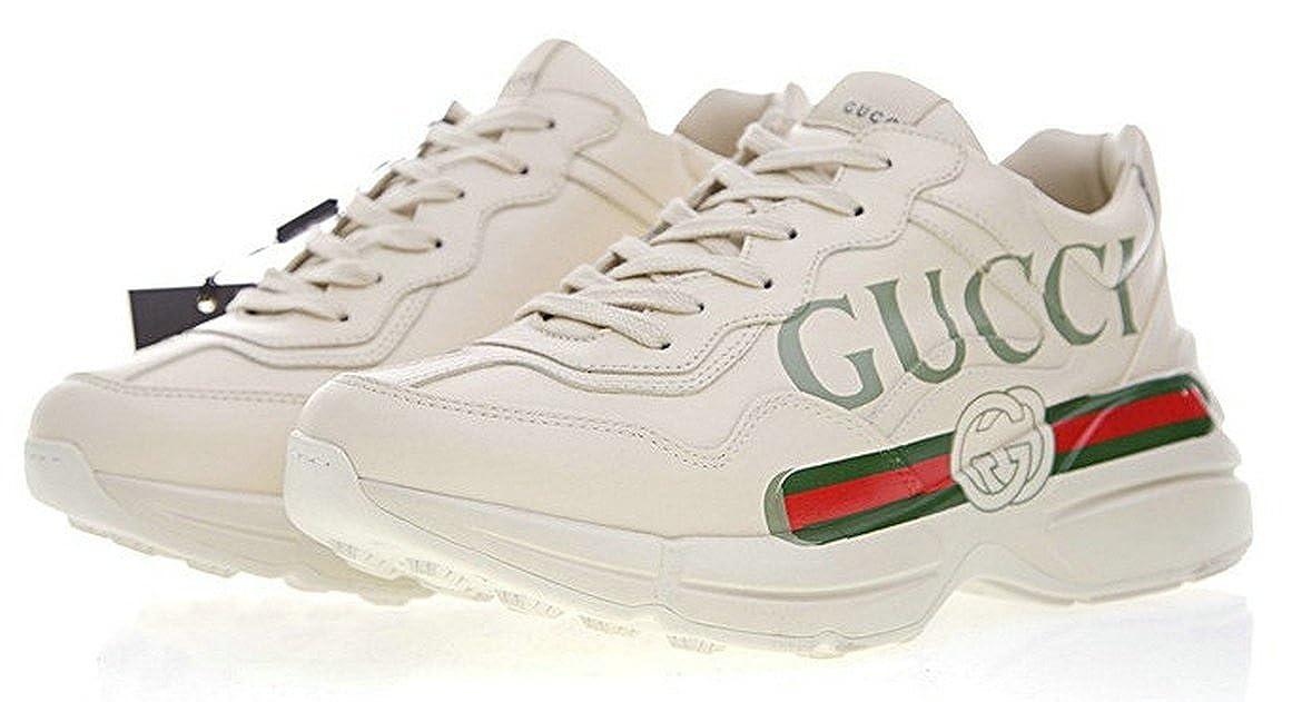 e56aef29a31 Gucci Rhyton Vintage Gucci Logo White Red Chaussure de Homme  Amazon.fr   Chaussures et Sacs