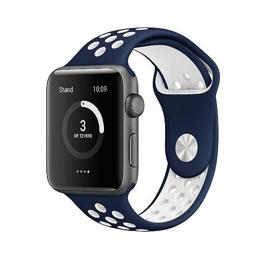 4 opinioni per AWStech Cinturino per Apple Watch Morbido Silicone Cinturino di Ricambio Sport