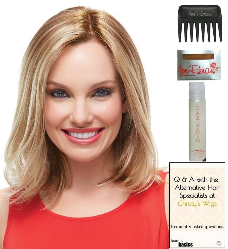 Karlie Wig by Jon Renau, 15 Page Christy's Wigs Q & A Booklet, 2oz Travel Size Wig Shampoo, Wig Cap & Wide Tooth Comb COLOR SELECTED: 14/26S10