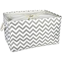 HQSILK Rectangle Storage Basket with Drawstring Closure