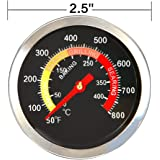 SHINESTAR BBQ Temperature Gauge Grill Pit Thermometer Fahrenheit for Barbecue Meat Cooking Pork Lamb Beef- Fahrenhite 50 to 800F (1 Pack)