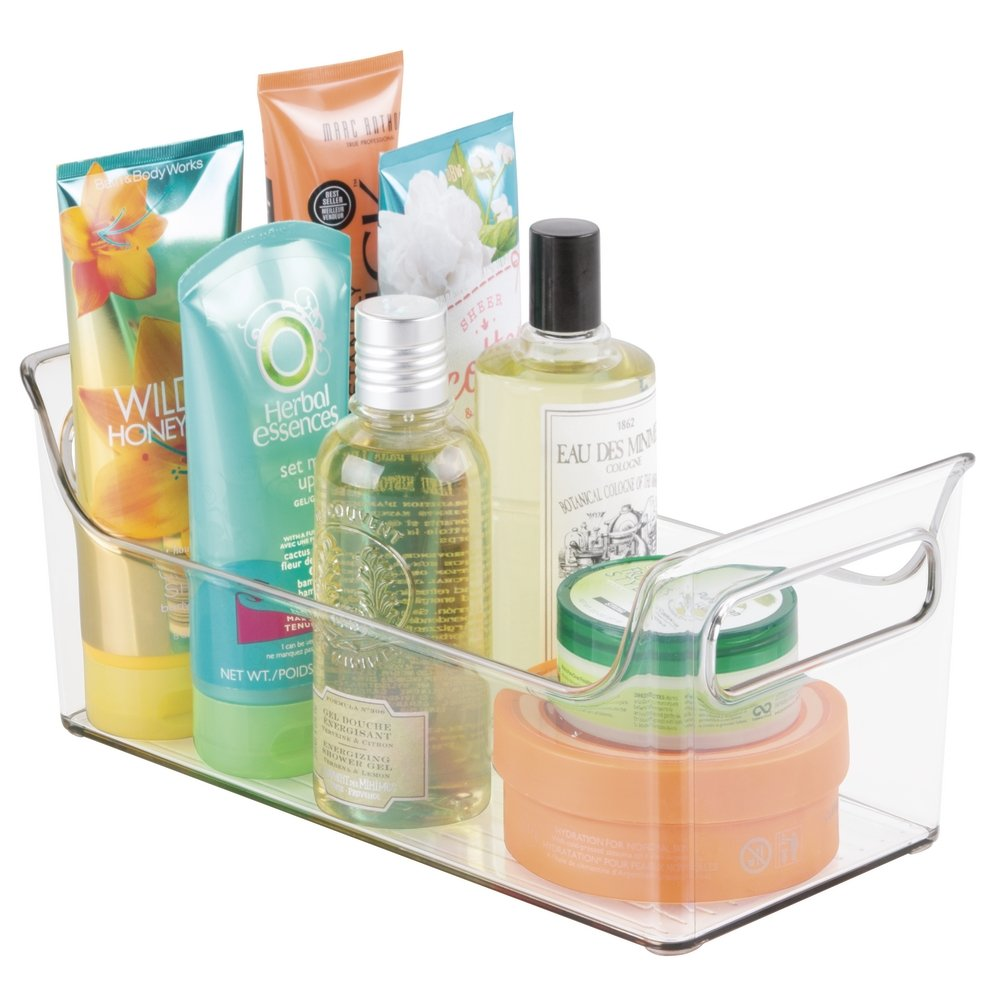 Amazon.com: MDesign Portable Bathroom Vanity Under Cabinet Health And  Beauty Supplies Caddy Organizer: Home U0026 Kitchen