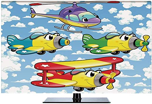 Amazon Com Cartoon Decor 37 Inch Indoor Tv Cover Kids Cute